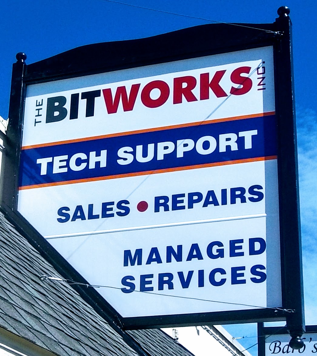 Bitworks New Sign Taylors Falls